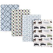 Hudson Baby Baby Layered Flannel Burp Cloth, Cars Pack, One Size