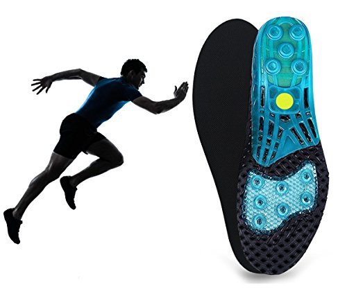 Climbing Shoe Spring (Silica Gel Sport Shoe Insole,MARRDO High-Impact Spring Cushioning Shock Absorption Shoe Insoles,forefoot enhances Massaging footbeds,plantar fasciitis Sports Insoles for Women Men)