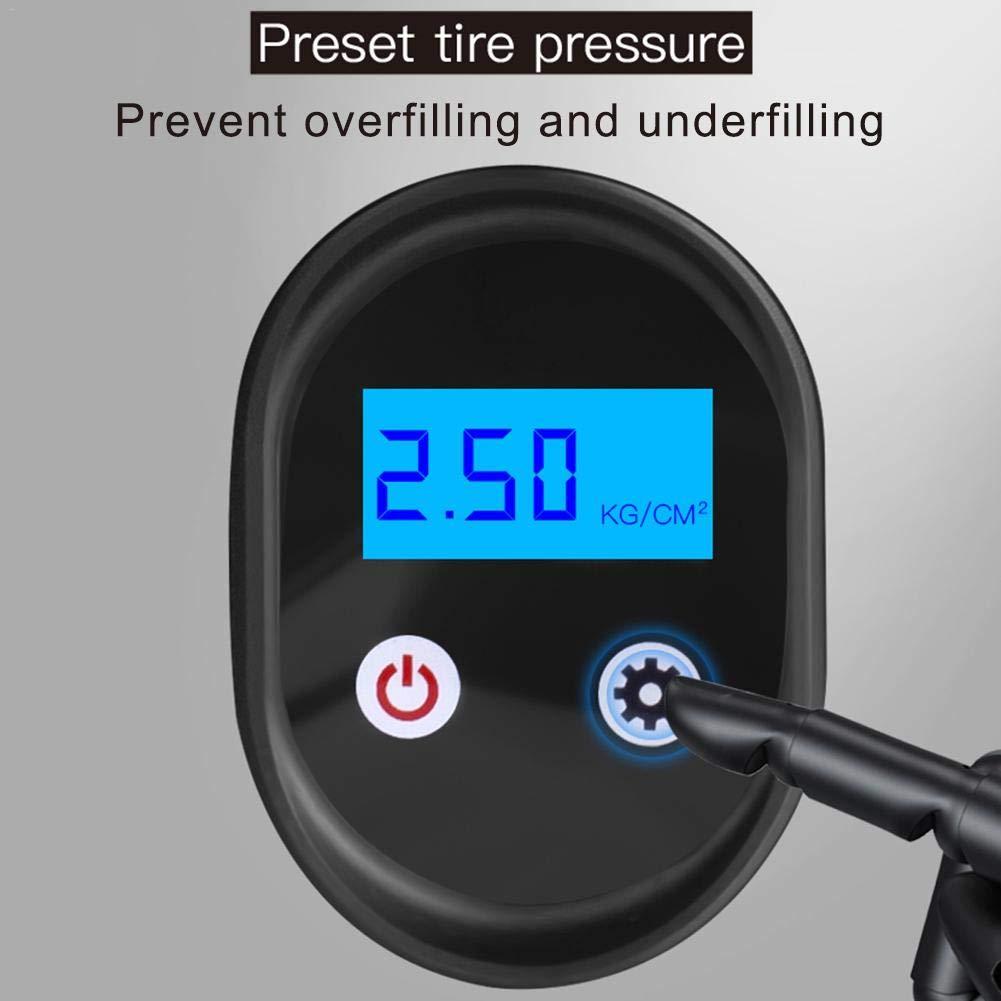 runnerequipment Pompe Gonflable sans Fil de Voiture de gonfleur de Pneu /électrique de Pompes pneumatiques portatives