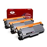 TN660 TN630 High Yield Toner Cartridge Toner Kingdom 3 Black Replacement for Brother TN-660 TN-630 Work with DCP-L2540DW MFC-L2700DW MFC-L2740DW HL-L2340DW HL-L2380DW Printer