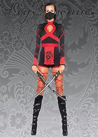 Para mujer Sexy disfraz de dragón ninja Warrior S (UK 8 – 10 ...