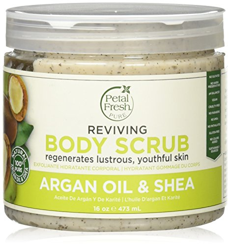 Petal Fresh Argan Shea Body Scrub, 16 Ounce