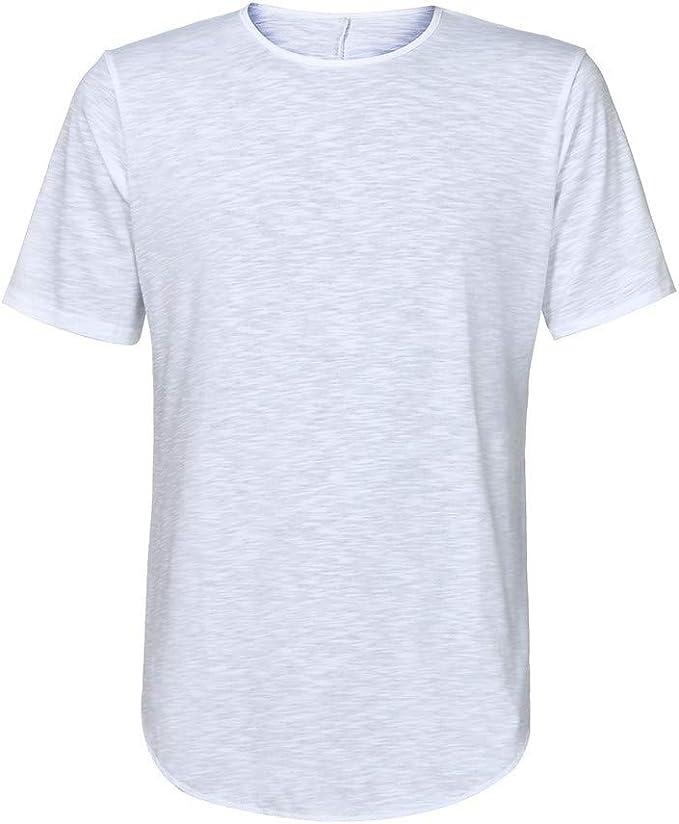 waotier Camiseta De Manga Corta De Hombre con Cuello Redondo ...