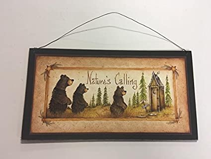 Amazon.com: The Little Store Of Home Decor Natures Calling Bear ...