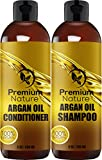 Argan Oil Shampoo and Conditioner Set - (2 x 8oz) Sulfate Free Hair Repair - Volumizing & Moisturizing Hair Regrowth - Treatment for Hair Loss Mothers Day Gifts Idea for Her/Him Best Beauty Gift