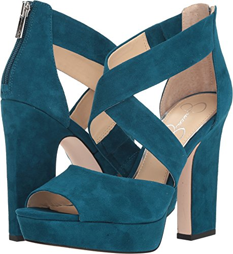 Simpson Toe Platforms Jessica Open (Jessica Simpson Women's Tehya, Teal Lagoon, 6 Medium US)