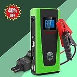PUSHIDUN Portable Car Jump Starter 600A 12000mAh Auto Battery Booster Jumper Pack (Up to 5.0L Gas & 2.0L Diesel) External Power Bank 2 Smart Charging Ports,Compass & LCD Screen