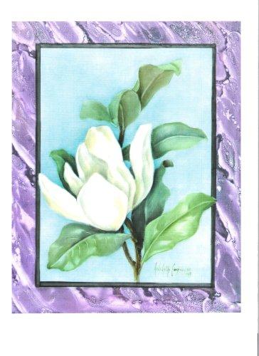 White Magnolia China Painting Porcelain Art Study
