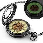 Carrie Hughes Men's Spiderman Vintage Steampunk Skeleton Mechanical Pocket Watch Christmas Gifts 7