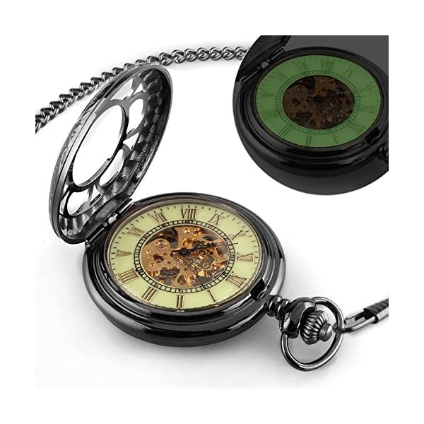 Carrie Hughes Men's Spiderman Vintage Steampunk Skeleton Mechanical Pocket Watch Christmas Gifts 4