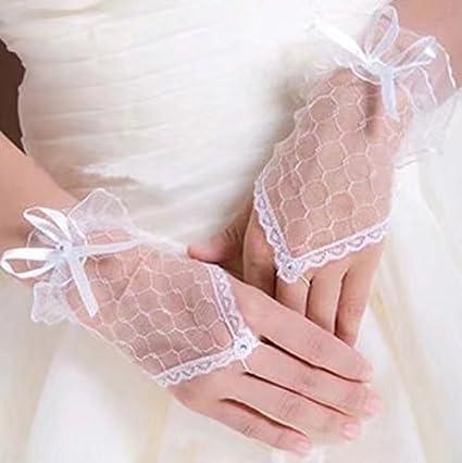 Handstulpen mit Stickerei und Perlen schwarz Hochzeit Braut Handschuhe Fingerlos No Name 12060