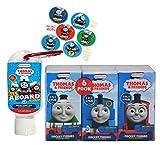 Thomas & Friends 6pk Kids Pocket Tissues & Thomas Hand Sanitizer With Keychain Clip! Plus Bonus Thomas & Friends Stickers!