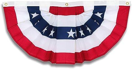 2 ft Fabric bunting in patriotic colors