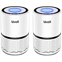 LEVOIT LV-H132 Air Purifier Filtration with True HEPA Filter, Allergies Eliminator for Room, Home, Dust, Mold, Pets, Smokers, Odor Cleaner with Night Light, US-120V, (2 Pack)