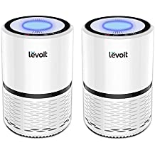 LEVOIT LV-H132 Air Purifier with True HEPA Filter, Odor Allergies Eliminator for Smokers, Smoke, Dust, Mold, Home and Pets, Air Cleaner with Optional Night Light, US-120V, 2 Pack, 2-Year Warranty