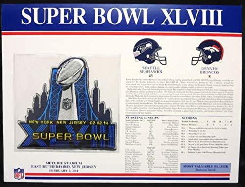 Super Bowl XLVIII 48 Official Patch Seattle Seahawks vs Denver Broncos at Metlife Stadium
