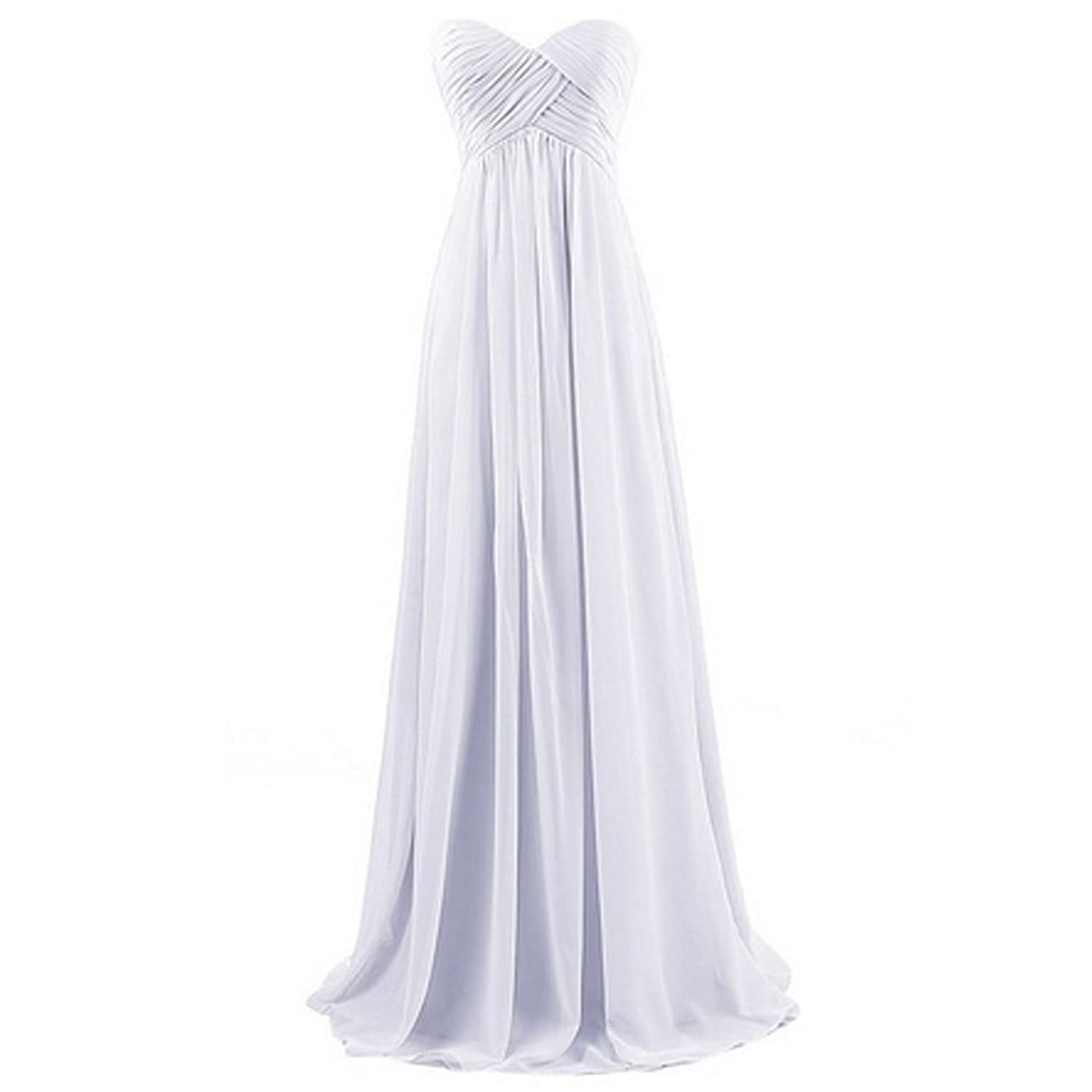 Women's Sweetheart Bridesmaid Long Evening Gown Maxi dress