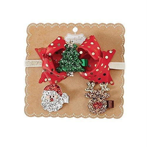 CHRISTMAS GLITTER CLIP HEADBAND SET -