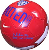 Christen Press Signed Autograph Nike Pink Official Size 5 Soccer Ball 2015 WC Champ