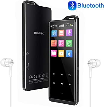 RUIZU X06 Mp3 Player with Bluetooth Mp3 Music Player with FM Radio 100hrs Play