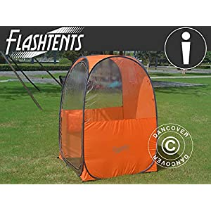 Dancover All Weather Pod/Football Mom pop-up tent, FlashTents®, 1 person, Orange/Dark grey