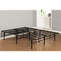 Kings Brand Furniture Platform Bed Frame Mattress Foundation No Box Spring Needed (Full)