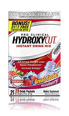 Hydroxycut Drink Mix, Scientifically Tested Weight Loss and Energy, Weight Loss Drink, 28 Packets (67.2 grams)