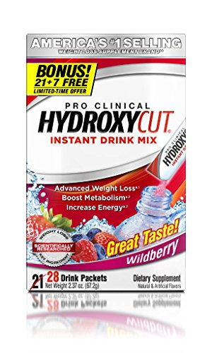 Hydroxycut Drink Mix, Scientifically Tested Weight Loss and Energy, Weight Loss Drink, 28 Packets (67.2 - Energy Drink Mix