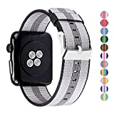 Pantheon Woven Nylon Replacement Band for the Apple Watch by, Women's or Men's, Strap fits the 42mm for Apple iWatch 1, 2, 3 and Nike edition