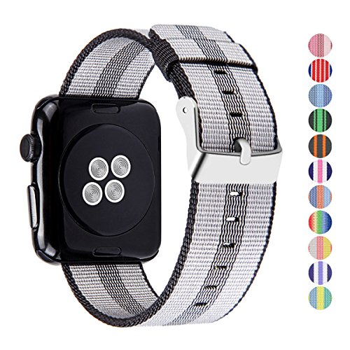 Pantheon Woven Nylon Replacement Band for the Apple Watch by, Women's or Men's, Strap fits the 42mm for Apple iWatch 1, 2, 3 and Nike edition by Pantheon