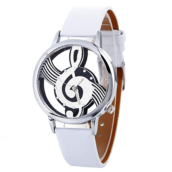Amazon.com: Women Quartz Watches VANSOON Teen Girls Dress Watches Musical Note Painting Leather Bracelet Lady Digital Wrist Watch Classic Watches Pocket ...