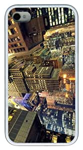 cover carry manhattan night TPU White Case for iphone 4/4S