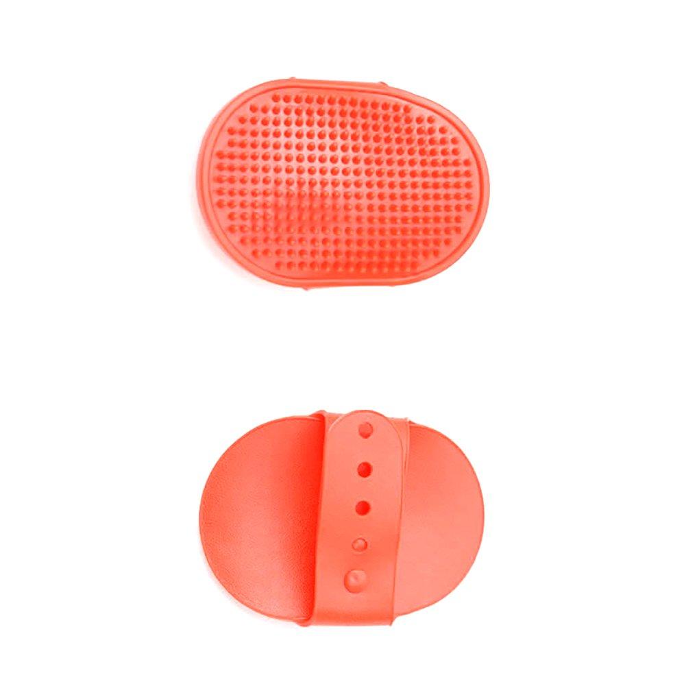 Treestar Chaton Chiot Bain ovale en caoutchouc Massage de bain de nettoyage pour animal domestique Brosse 1pcs