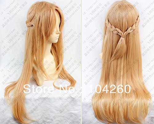 Price comparison product image Smile Japan Anime 80cm Long Sword Art Online Asuna Yuuki Long cosplay wig +cap by SmileCosWig