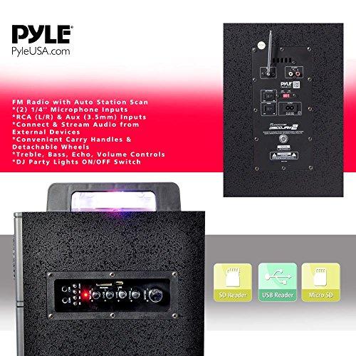 Pyle PSUFM1043BT Bluetooth PA Loudspeaker Karaoke Entertainment System, Wireless Mic by Pyle (Image #2)