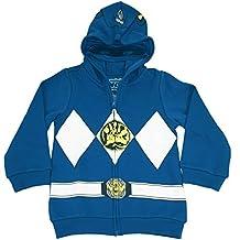 The Power Rangers Big Boys I Am Costume Zip Hoodie Blue 7/8