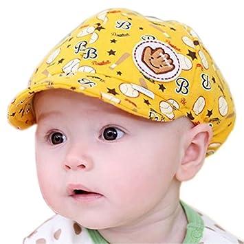 590e57d03973 Amazon.com   Xhan Baby Boy Beret Toddler Sun Protection Hat Infant ...