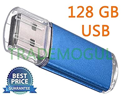 Sleek BLUE 128GB BRAND NEW USB 2.0 Thumb Pen Flash Drive Memory Stick Storage