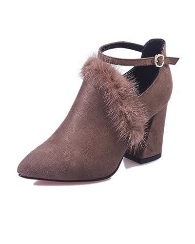 Femmes Rétro Compensé Bottes Chelsea Hiver Doublure Chaud Peluche Bottes De Neige Antidérapant Chaussures Casual Boots rruRHp