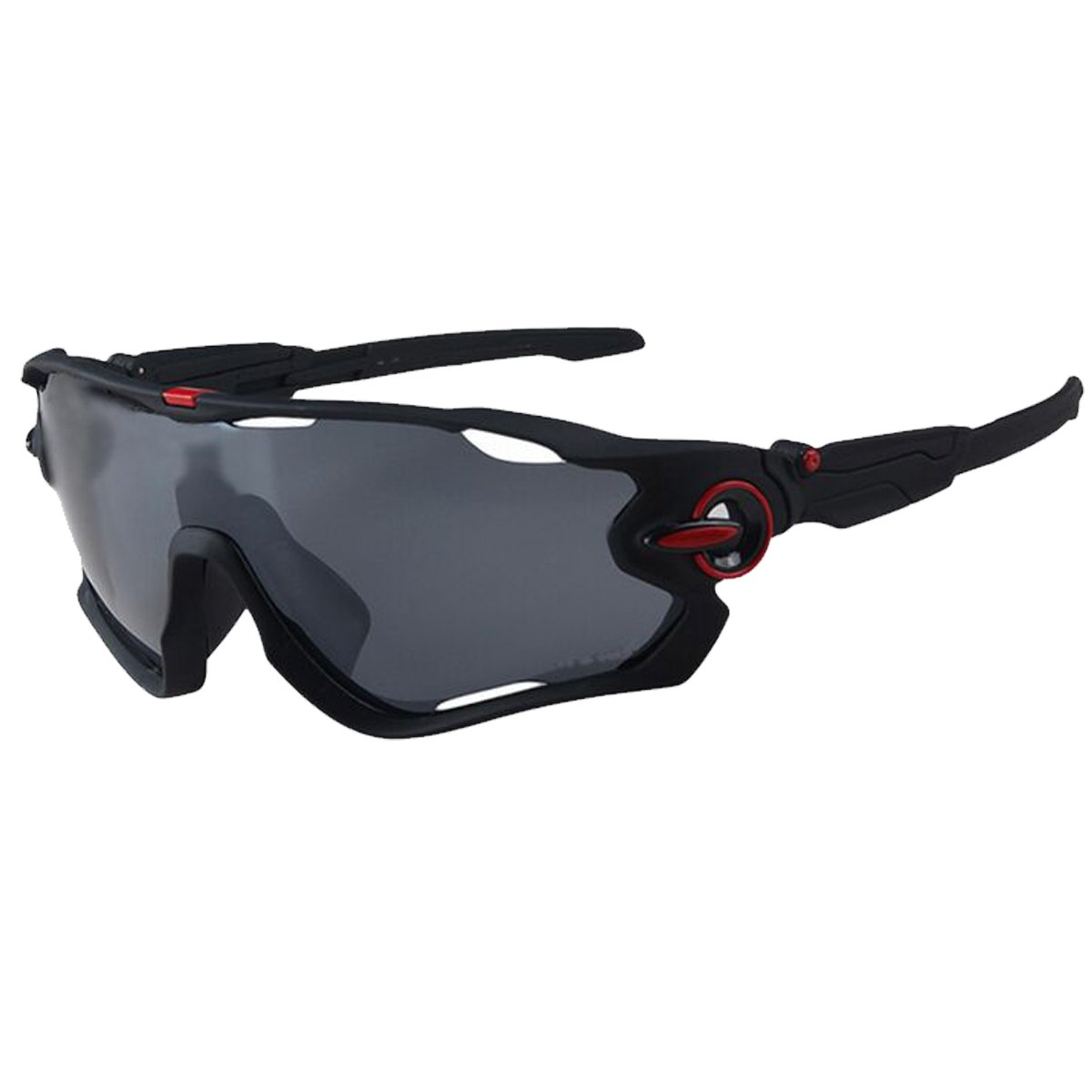 Polarized Sports Sunglasses with Interchangeable Lenses, TR90 Unbreakable Frame for Running