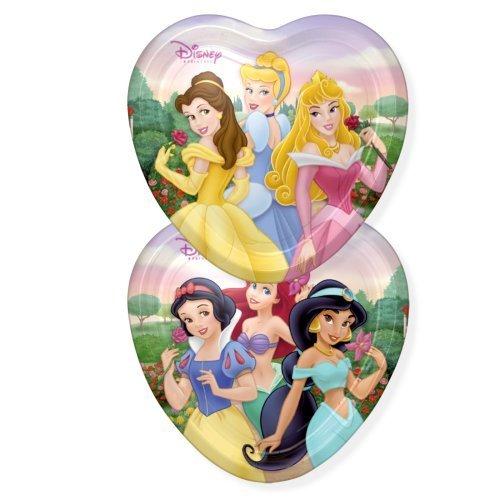 (Disney Princess Party Heart Shaped Plates - Disney Princess Plates - 8 Count )