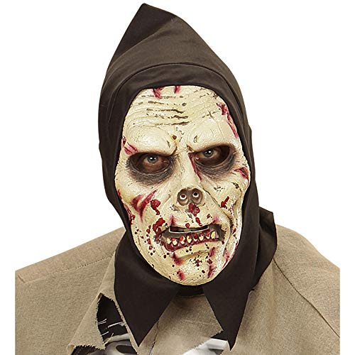 widmann 00465 Hooded 'Zombie'Mask Adult-One Size