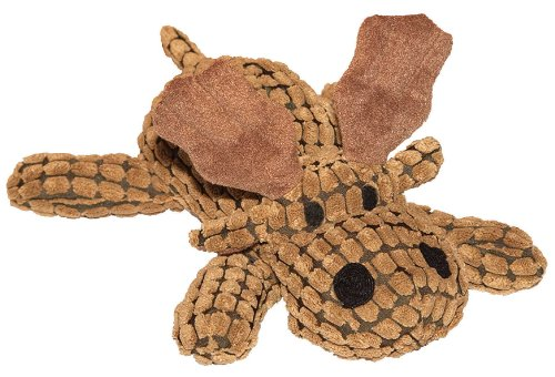 Patchwork Pet 01035 Waffle Wags Moose 14-Inch Squeak Toy for Dogs