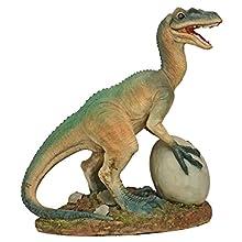 Design Toscano The Egg Beater Raptor Dinosaur Statue