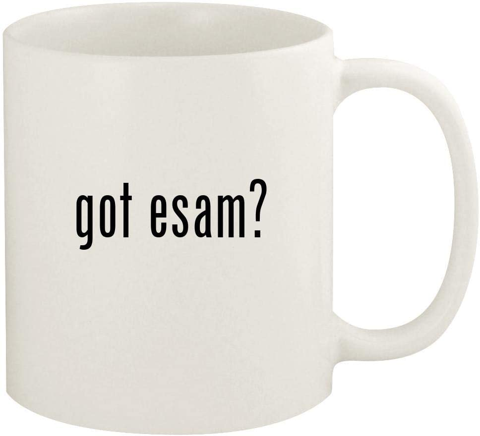 got esam? - 11oz Ceramic White Coffee Mug Cup, White