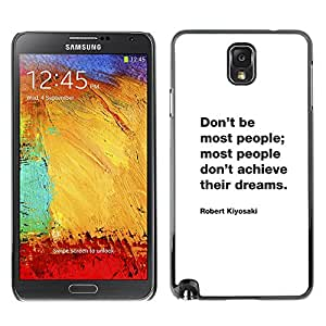 Planetar® ( Freaks Crush Inspiring Quote Motivational ) SAMSUNG Galaxy Note 3 III / N9000 / N9005 Fundas Cover Cubre Hard Case Cover
