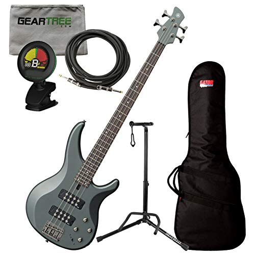 Yamaha TRBX304 MGR Mist Green 4 String Bass Guitar w/Gig Bag, Cloth, Stand, Cab