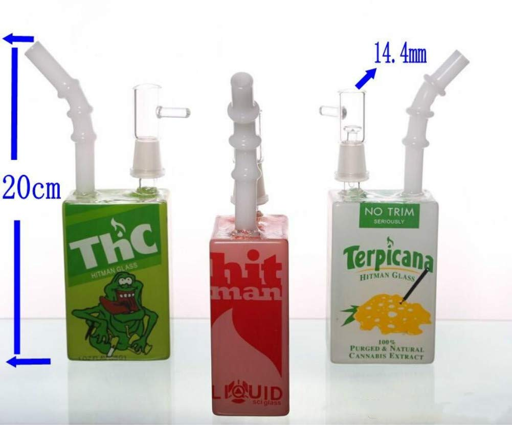 Green 14mm Male Devil Qin Colorful Glass Bottle Kit Height 7.8