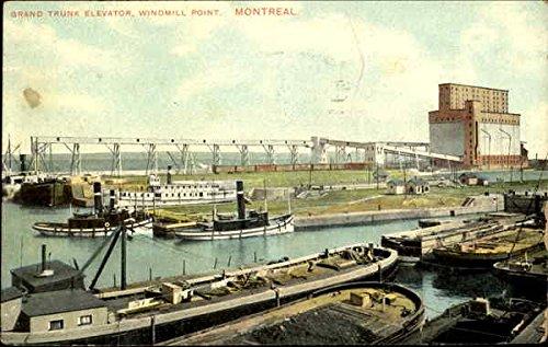 Grand Trunk Elevator, Windmill Point Montreal, Quebec Canada Original Vintage Postcard