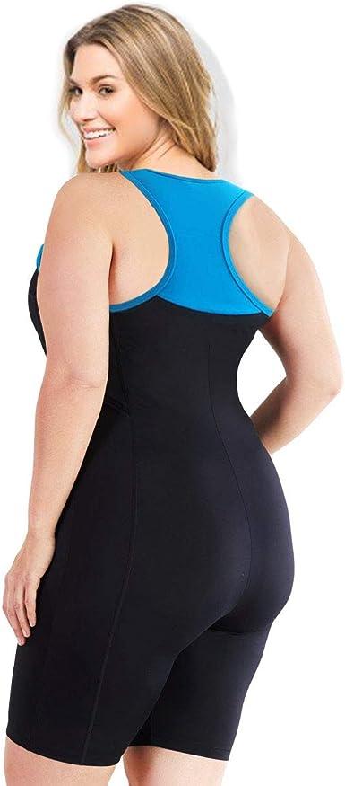 Aquatard Unitard Aerobics Sports 3XL-26//28 Woman swimsuit dress one piece plus